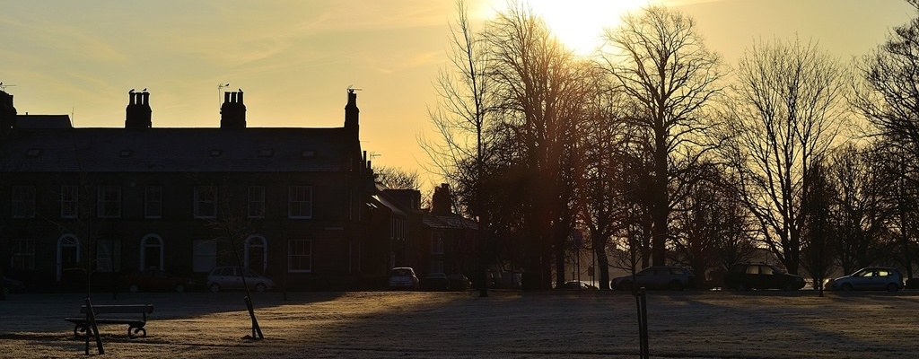 Winter Sunrise over Houses